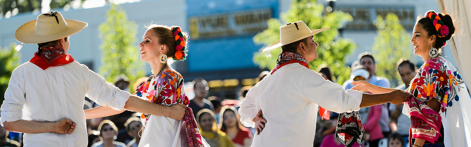 Members of DanzTrad perform a traditional Mexican folklore dance