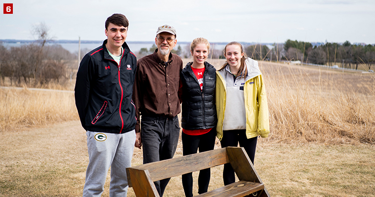 A Badger Volunteers team at the Holy Wisdom Monastery providing a variety of grounds maintenance and landscaping tasks