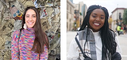 2020-2021 Wisconsin Idea Fellow recipients Albonia Sabani and Tamia Fowlkes