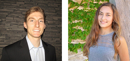 2020-2021 Wisconsin Idea Fellow recipients Alex Yost and Ana Diges