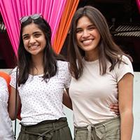 Anusha Naik and Samantha Lettenberger, 4-W Undergraduate Award Recipients