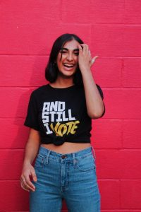 Shreya - getting out the vote