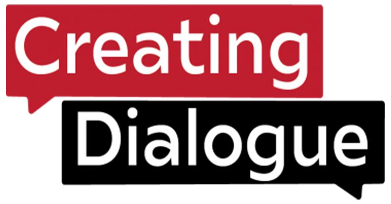 creating dialouge logo